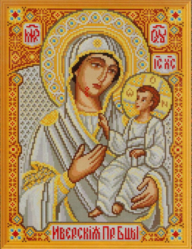 Схема - Схема вышивки «Иверская икона Божьей Матери» - Автор